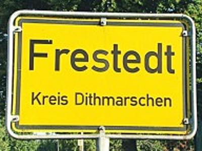 Ortseingang Frestedt Kreis Dithmarschen
